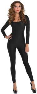 Adult Catsuit Black Jumpsuit Ladies Fancy Dress Costume Outfit Small/Medium