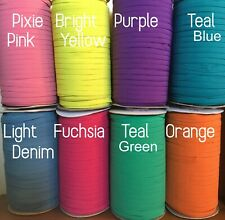 5 10 20 Yards 1/4 Inch Skinny Braided ELASTIC Mask Making Headbands PICK COLORS