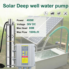 """3"""" 140w Deep Well Solar Submersible 24v Bore Hole Pump MPPT Controller"""