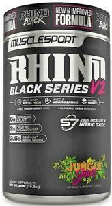 MUSCLE SPORT RHINO BLACK SERIES V2 460G PRE-WORKOUT - JUNGLE