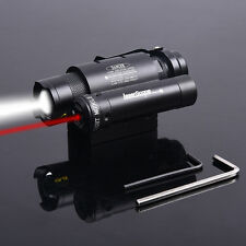 Combo Red Dot Laser Sight+Cree Flashlight Tactical Hunting For Glock Pistol Gun