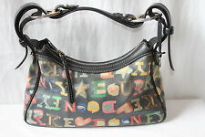 Authentic Dooney and Bourke Crayon Doodle Satchel Purse