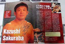 Kazushi Sakuraba Royce Gracie +9 Signed Pride 2000 Grand Prix Final Program PSA