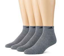 $52 Adidas Climalite Men's 4-Pair Stretch Gray Cushion Low Cut Socks Shoe 6-12