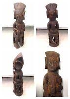 Antike afrikanische Holzfigur sitzende Figur Afrika wood sculture Höhe 36 cm