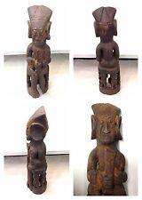 Antique africain chiffre en bois assis figurine afrique sculpture hauteur 36 cm
