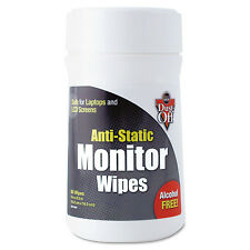 Dust-Off Premoistened Monitor Cleaning Wipes 80 ct Antistatic Wipes New