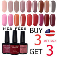 MES FEES UV Gel Nail Polish Base Top Coat Soak Off Nail Art 7ml BUY 3 GET 3 Free