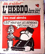 L'Hebdo Hara Kiri n°91 du 26/10/1970; Les Mal Aimés; c'est nous qui les rendons