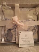 NIB Pottery Barn Baby Owl Knit Hat & Booties Socks Nursery Gift Set Grey 0-3 mos
