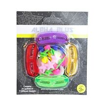 ALFA Plus più Colorato Bambini Bicicletta SPOKE decorazioni E Kit Ruota Riflettore