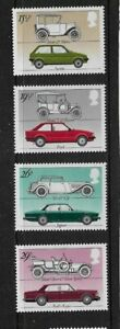 1982 GB. - British Cars - Complete Set - Unmounted Mint...