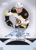 17-18 UD Premier Jake DeBrusk Auto Rookie SILVER SPECTRUM Bruins 2017