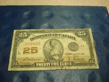 1923 - Dominion of Canada - 25 cent note - Shinplaster bill - 220895