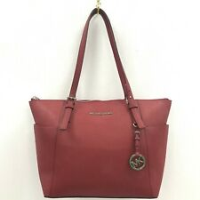 Michael Kors Handbag Red Smart Casual Ladies Bag Shoulder Zip Up 301320
