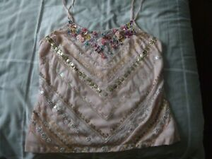 Pink Strappy Top Size 14