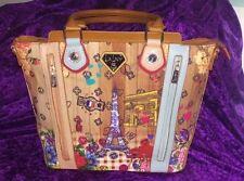 LANY Paris Eiffel Tower Jeweled Tote Bag Purse NWT Vegan bonus shopper bag