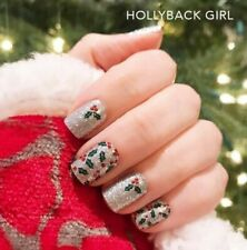 Color Street HOLLYBACK GIRL (Silver Red Green Glitter Berries Winter Holiday)