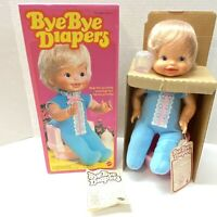 """Bye Bye Diapers 15"""" Clapping Doll, Mattel 1981 - New"""
