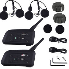 2X BT Bluetooth Motorcycle Helmet Interphone Intercom Headset 1200M for 6Riders