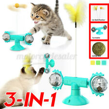 3-In-1 Pet Cat Play Toys Fun Ball Interactive Rotating Birthday Gift Self Play