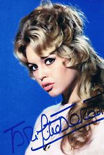 "Brigitte Bardot 1934- genuine autograph signed 4""x6"" photo"