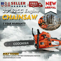 Details about  /COOCHEER 62CC 20 Gas Chainsaw Handed Petrol Chain Woodcutting 2 Cycle 4HP B 406