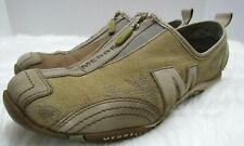 Merrell Barrado Sport Womens 7 Canvas Leather Low Profile Zip Run Walking Shoes