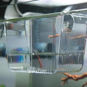 Mini Aquarium Fish Tank Guppy Double Breeding Rearing Trap Box Hatchery SK
