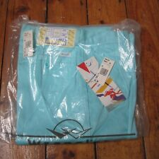 "Wrangler Vintage 80s or early 90s Turquoise Cyan Chinos Trousers W28"" L34"" NEW!"