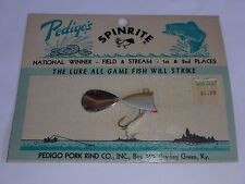 Vintage Spinrite Fishing Lure Pedigo Pork Rind Co. Pre Uncle Josh L784 1/2 oz