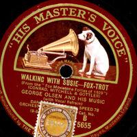 """GEORGE OLSEN ORCHESTRA Walking with Susie """"Golden 20's""""  Schellackplatte   S436"""