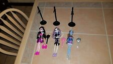 3 Monster High Dolls Catrine DeMew Abbey Bominable Draculaura w/Clothes +