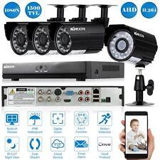 4CH 1080N/720P CCTV DVR 1500TVL Outdoor Night Vision Security Camera System Y4N6