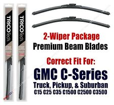 Wipers 2-Pack Beam Blades 1970-1972 GMC C15 C25 C35 C1500 C2500 C3500 - 19150x2