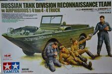 89771 Tamiya 1/35 Russian Tank Division Reconnaissance Team w 4x4 Truck Kit