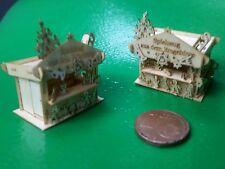 Bastelset Kit beliebter H01C  Weihnachtsmarktstand M 1/144 3cm 30 deco figuren