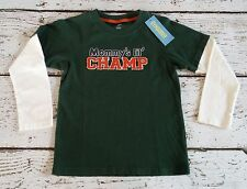 """GYMBOREE """"Football Captain"""" Green Mommy's Lil Champ Double Sleeve Tee 5 5T NWT"""
