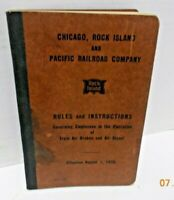 1955 Chicago Rock Island & Pacific Railroad Co. Air Brake Rules & Instructions
