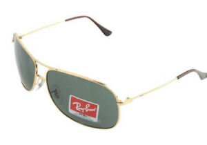 RAY BAN RB 3267 BROWN GOLD PILOT SUNGLASSES NEW IN CASE