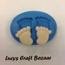 Stampo in silicone BABY FEET Cupcake Pop CARD TOPPER FIORE PASTA FIMO SUGARCRAFT