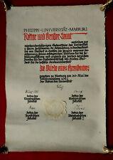 1927 Universität MARBURG - Ehrensenatorenwürde für W. SCHMIEDING