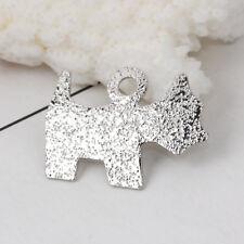 10 x Pretty Glitzy Stunning Sparkling Westie Dog Silver Tone Pendants FREE P&P