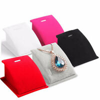 Portable Velvet Holder Necklace Pendant Chain Jewelry Display Stand Show Rack