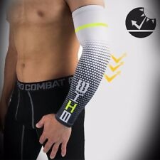 1 Pair Compression Arm Sleeves UV Cooling Ice Silk Arm Cover Protective Gear EC
