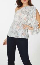Dorothy Perkins - Ivory Floral Print One Shoulder Top - Size 12 - BNWT