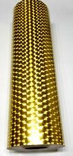 Gold Large Engine Turn Sign Vinyl 24 X 6 Ft Longlife