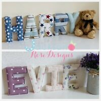 Nursery Padded letters Wall Art Handmade Fabric name, personalised, girl, boy