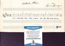 Dave Dreyer (d.1967) Autographed Hand Written Music Com Wabash Moore BECKETT BAS
