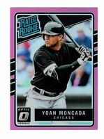 2017 DONRUSS OPTIC PINK PRIZM REFRACTOR RC RATED ROOKIE 31 YOAN MONCADA WHITESOX